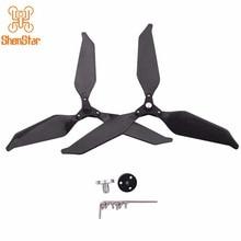 9455S puntelli di riduzione del rumore elica pieghevole in fibra di carbonio autobloccante 3 foglie/2 pale per DJI Phantom 4 PRO FPV Drone Parts