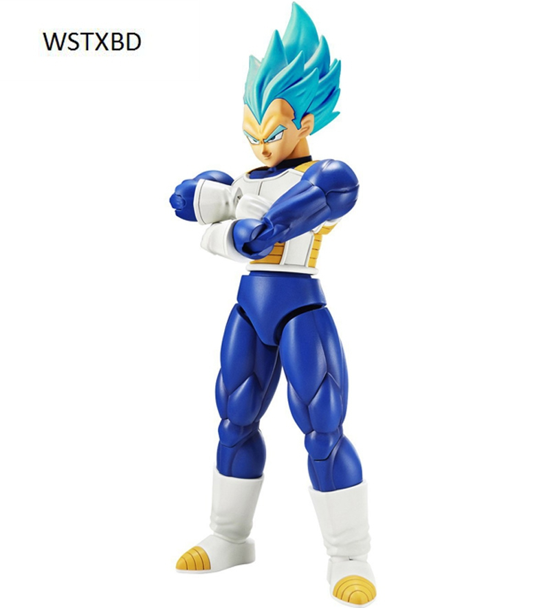 WSTXBD Original Dragon ball Z DBZ Figure-Rise SSJ God Blue Vegeta PVC Figure Toys Figurals Model Kit Dolls new original dragon ball z dbz blue god vegetto final pvc figure toys figurals model kids dolls