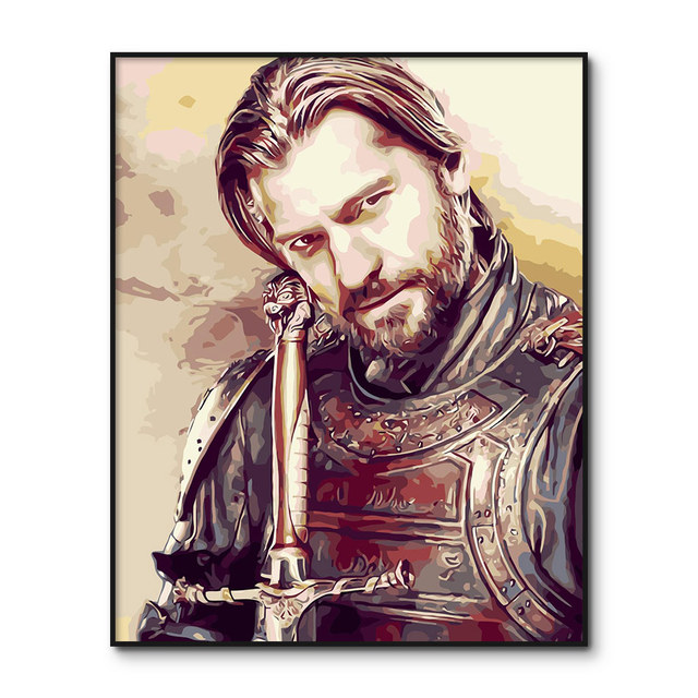 Game of Thrones Framed Poster DIY Painting By Numbers Painting On Canvas Wall Art For Home Decor Acrylic Paint by number kits
