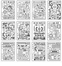 A5 Loose-leaf Ferramenta de Desenho Número Alfabeto Estêncil Handmade Jornal Tablóide Bala Quadro Modelos de Estudante Da Escola Suprimentos DIY