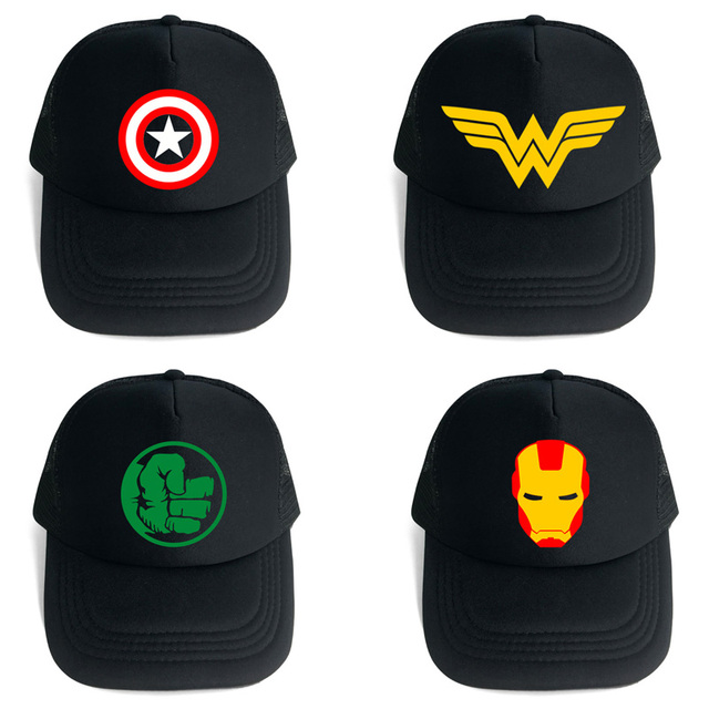 cbcc86290f6eb Outdoor Sports Baseball Caps of Anime Captain America Sun Hats Wonder Woman  Hip Hop Cap Superman