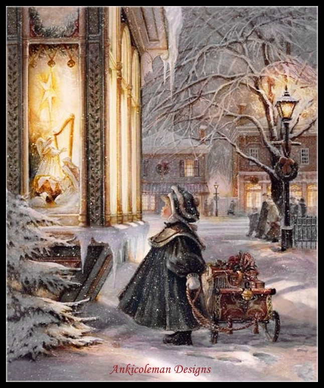 Christmas Boy II - Counted Cross Stitch Kits - DIY Handmade Needlework For Embroidery 14 Ct Cross Stitch Sets DMC Color