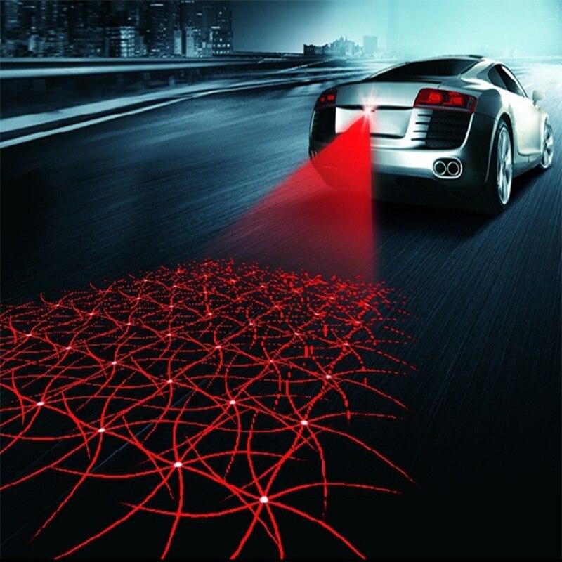 LEEPEE LED voiture Moto Laser antibrouillard Anti Collision feu arrière Auto Moto freinage Signal de stationnement lampes d'avertissement voiture style