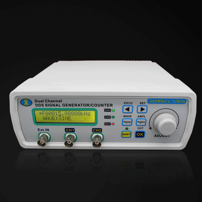 все цены на Digital signal generator DDS frequency generator Dual-channel Function Generator Arbitrary Waveform/Pulse 200MSa/s 20MHz онлайн