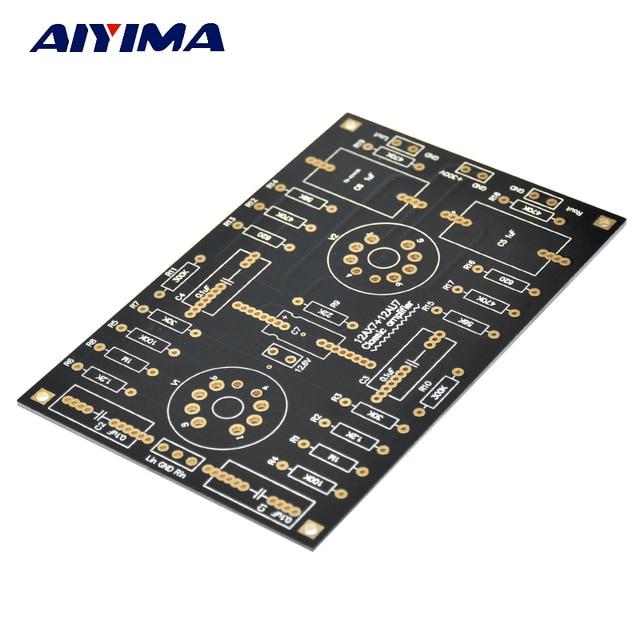 AIYIMA 12AX7/12AU7 チューブプリアンプアンプ PCB ボードデュアルチャンネル管胆汁プリアンプ空ボード Diy