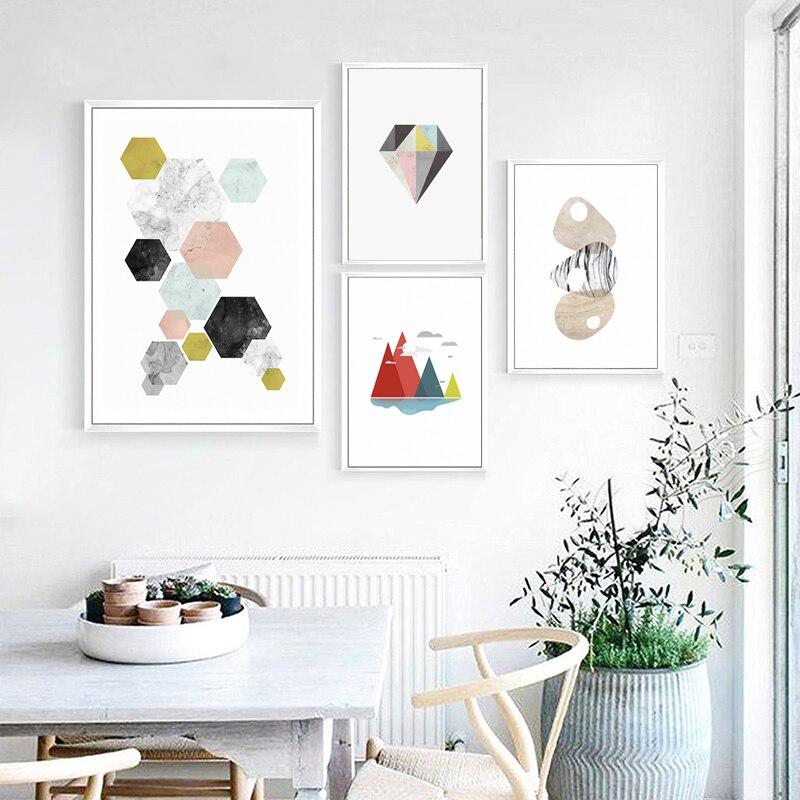 US $2.54 57% di SCONTO|Moderno stile Fresco Poster Art quadri Su Tela  Pittura Astratta geometria Colori Scuola Materna Della Parete Immagine  Stampa ...