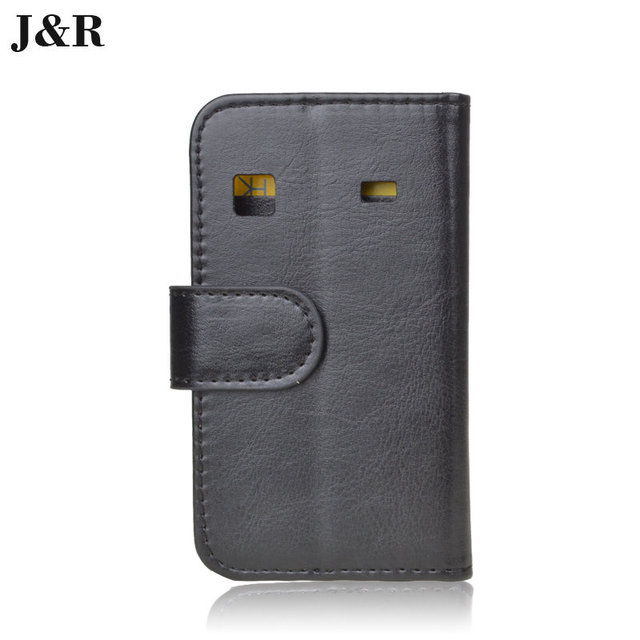 JR PU Leather Book Case For Samsung Galaxy Gio S5660 Gt-S5660 Cover Flip With Stand Design Card Slots Luxury Phone Back Cover