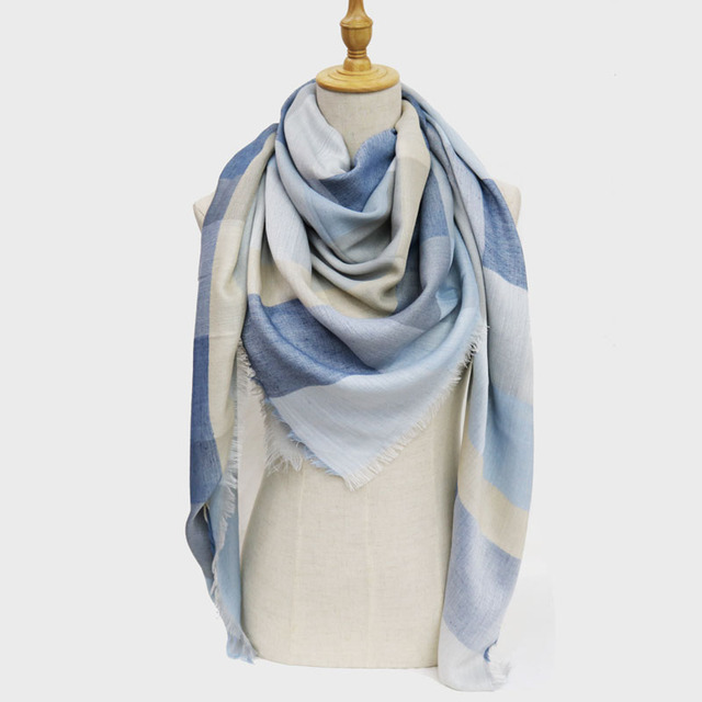 588d57457 2018 winter women fashion Polyester square scarf hijab scarfs big stoles  scarves femme for ladies Shawl