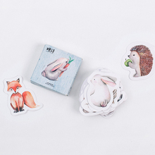45pcs/lot Cute Forest Animals Decoration Adhesive Stickers Diy Cartoon Stickers Diary Sticker Scrapbook Stationery Stickers
