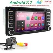 Android7.1 автомобиль в тире стерео 2din GPS dvd-плеер навигации Радио 2 г Оперативная память 4 г WI-FI BT/SWC /сабвуфер подходит для Toyota СВЕТОДИОДНЫЙ Резервного копирования Cam