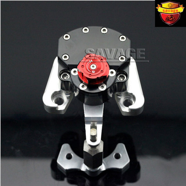 NEW For DUCATI MONSTER 796 2010-2015 Black Motorcycle Steering Damper Stabilizer with Mounting Bracket Kit
