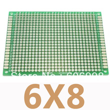 5pcs/lot 6x8cm Double Side Prototype Copper PCB Universal Printed Circuit Board DIY Protoboard Experimental Plate For Arduino