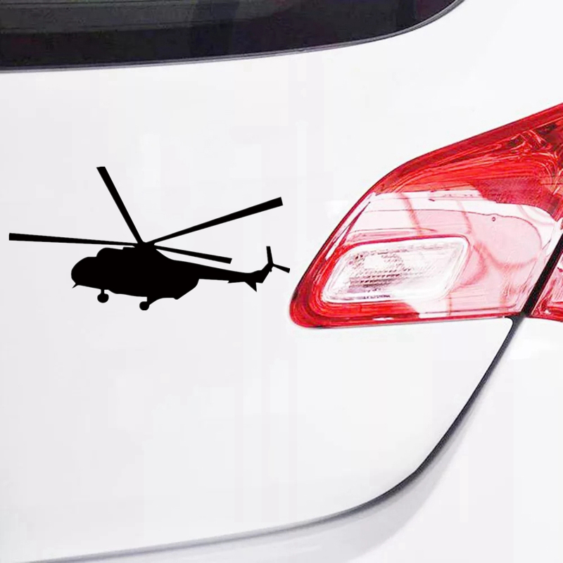 CK2563 23 12cm Mi 8 helicopter funny car sticker vinyl decal silver black car auto stickers for car bumper window car decoration in Car Stickers from Automobiles Motorcycles