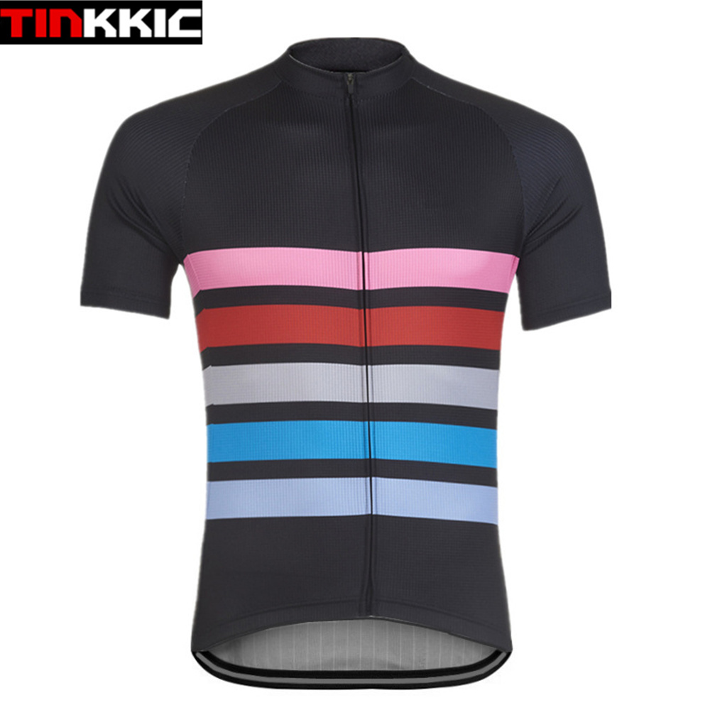 Tinkkic Short Sleeve Jerseys Men's Bicycle Wear Cycling Jersey Maillot Ciclismo Mtb Bike Clothes Ropa de Ciclismo hombre #XT-085