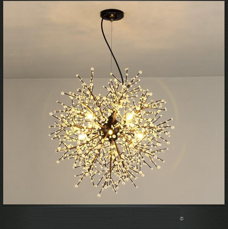 US $299.0 |Americano semplice LED lampade a sospensione personalità  tarassaco pasto lampadario camera da letto illuminazione lampada lampadario  Nordic ...