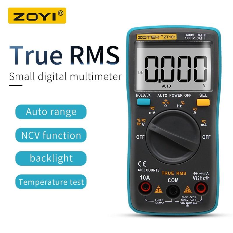 ZOYI Digital Multimeter ZT98/100/101/102 True RMS Auto Range Multimetro Voltmeter Ammeter Capacitance Temperature Hz  NCV Tester-in Multimeters from Tools