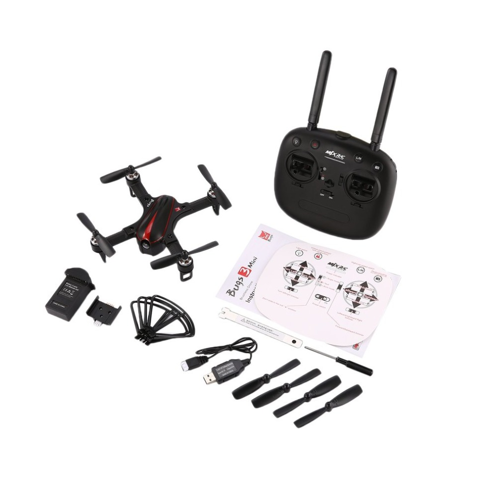 MJX B3 RC Mini 2.4GH 4CH Brushless 1306 2750KV Motor Drone Angle and Acro Mode Flip & Roll RC Quadcopter with LED Light