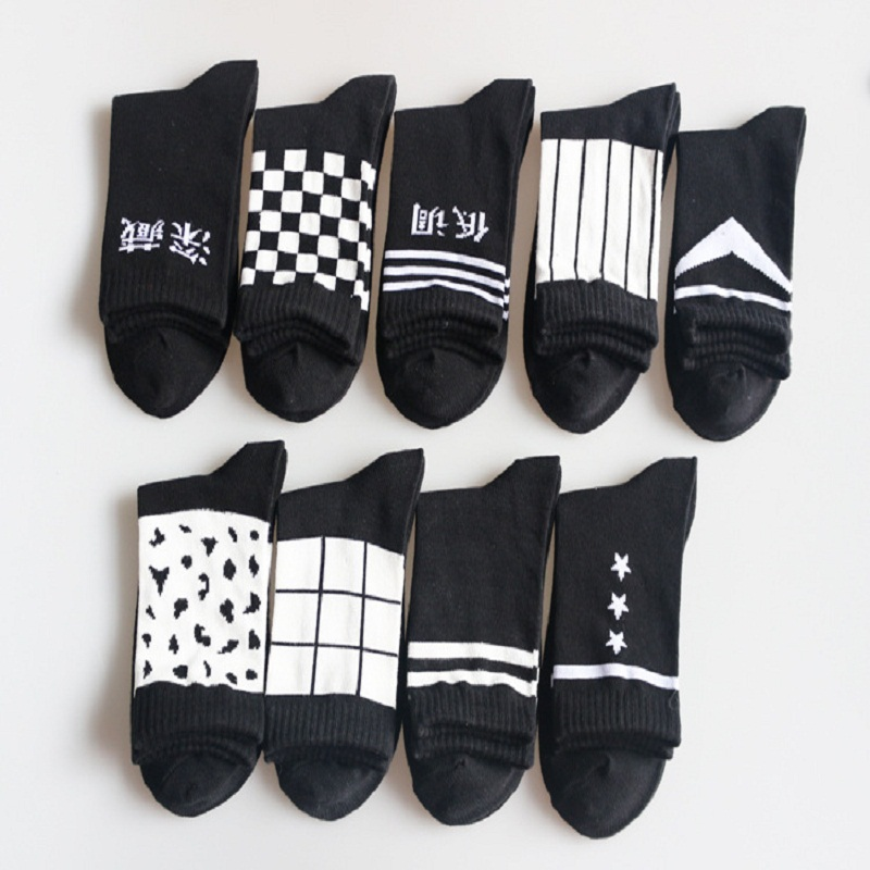 Casual Calcetines Hombre Mens Socks Latest Korean Couple Personality Duantong Mens Breathable And Socks Comfortable Cotton Ms.