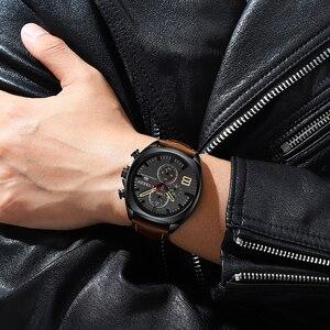 Image 5 - Nieuwe heren Horloges Top Brand Luxe CURREN Nieuwe Militaire Lederen Quartz Horloge Mannen Sport Horloge Relogio Masculino Mannelijke Uur