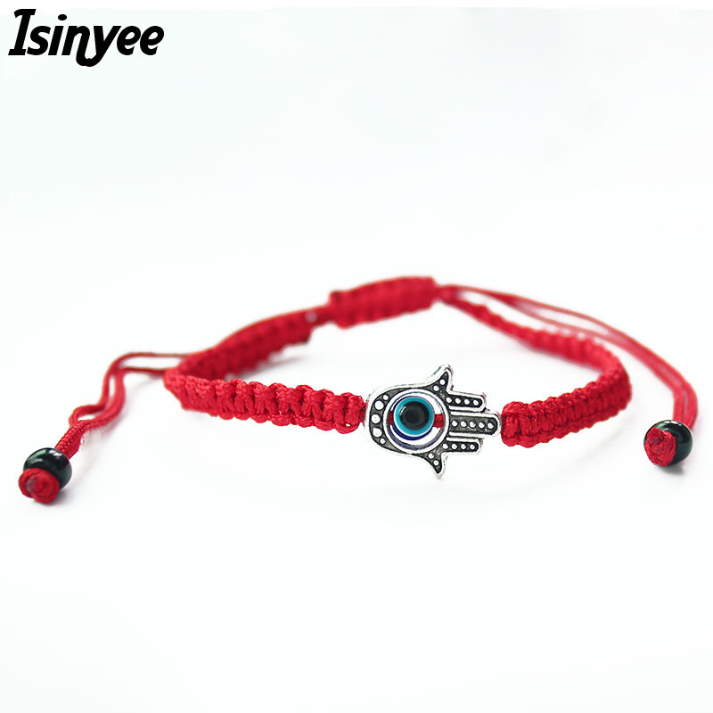 ISINYEE Red String Thread Bracelets Charm Women Jewelry