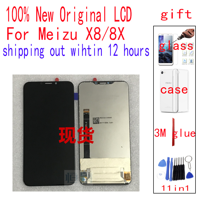 Original For Meizu X8 8X LCD Touch Screen digitizer 8X X8 With frame LCD display LCD Protective film soft caseOriginal For Meizu X8 8X LCD Touch Screen digitizer 8X X8 With frame LCD display LCD Protective film soft case