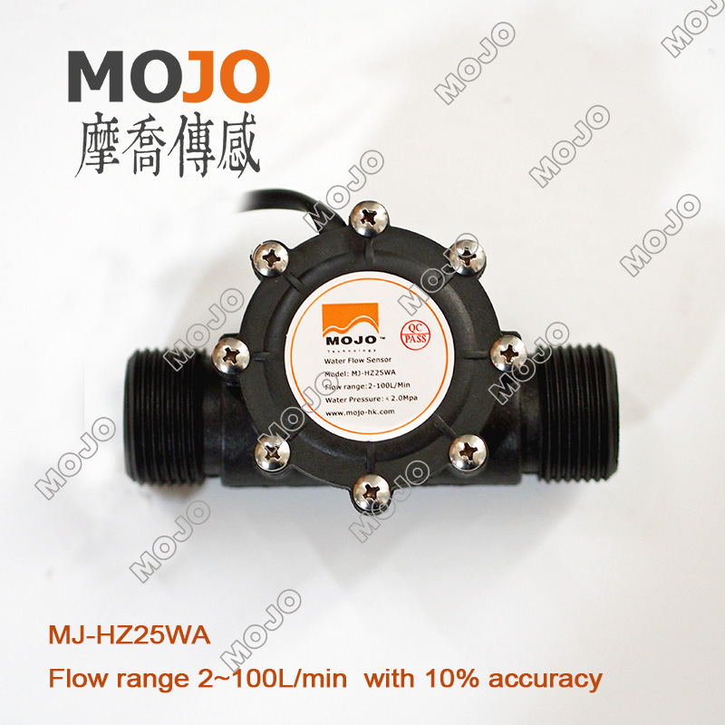 MJ HZ25WA nylon glass fiber material ultrasonic flow meter price mass air  flow sensor high presicion Flow meter-in Flow Sensors from Home Improvement