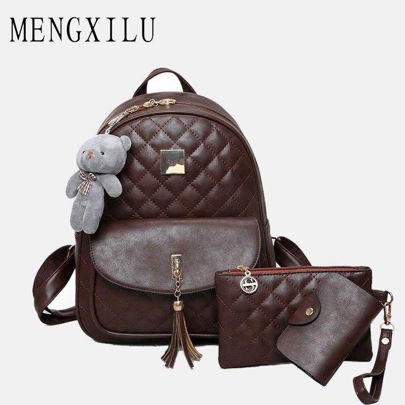 MENGXILU, Bags, New, Backpack, Lattice, Diamond