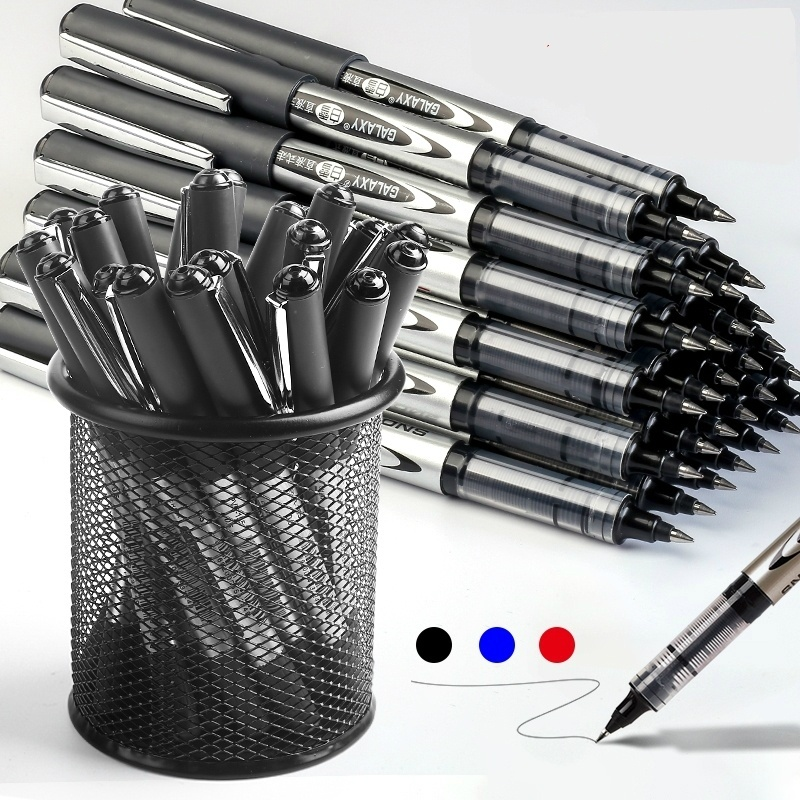 Big Capacity High Quality Gel Pen Liquid Ink Ball Pen Writing Black Blue Red For Office School Supplies Kids Staionery Pens