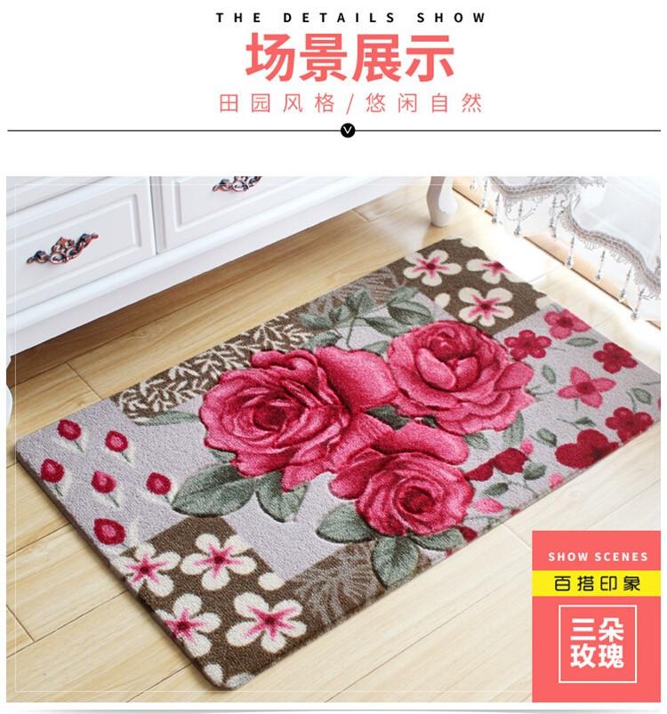 3D Flower Carpet Kids Room,Kitchen and Bathroom Carpet