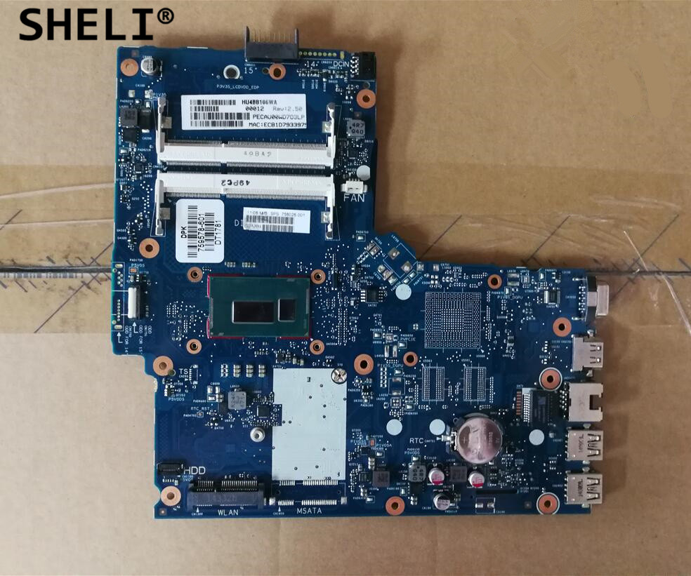 HP 350 G1  Series Genuine  Laptop i3-4005U Motherboard ~758028-001~