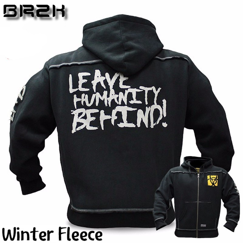 Mutant New Autumn Fitness Hoodies Brand Clothing Men Hoody Pullover Casual Sweatshirt Muscle Men's Slim Fit Hooded Jackets