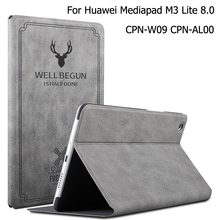 New Magnetic Matte Leather Smart Case For Huawei MediaPad M3 lite 8.0 CPN-W09 CPN-AL00 Auto Wake Sleep Stand Flip Cover цена 2017