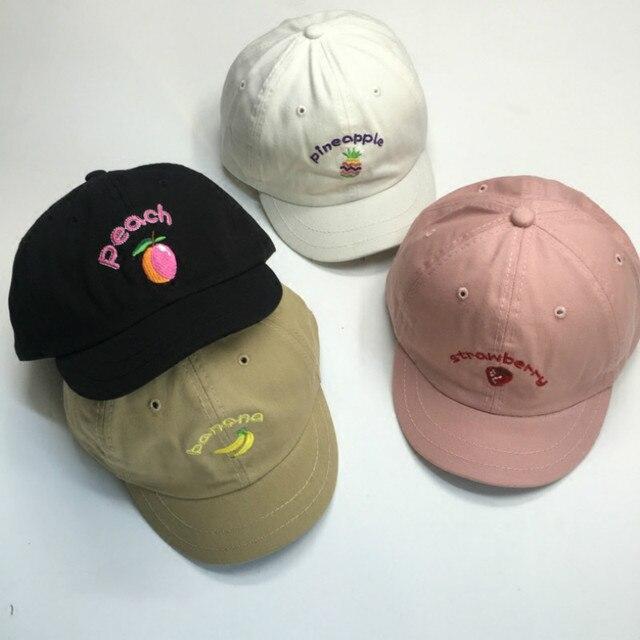 e005f3919da Fruit Hats Harajuku Summer Women Strawberry Embroidery Kawaii Caps Japanese  Style Casual Sweet Baseball Caps Gorro Femenino