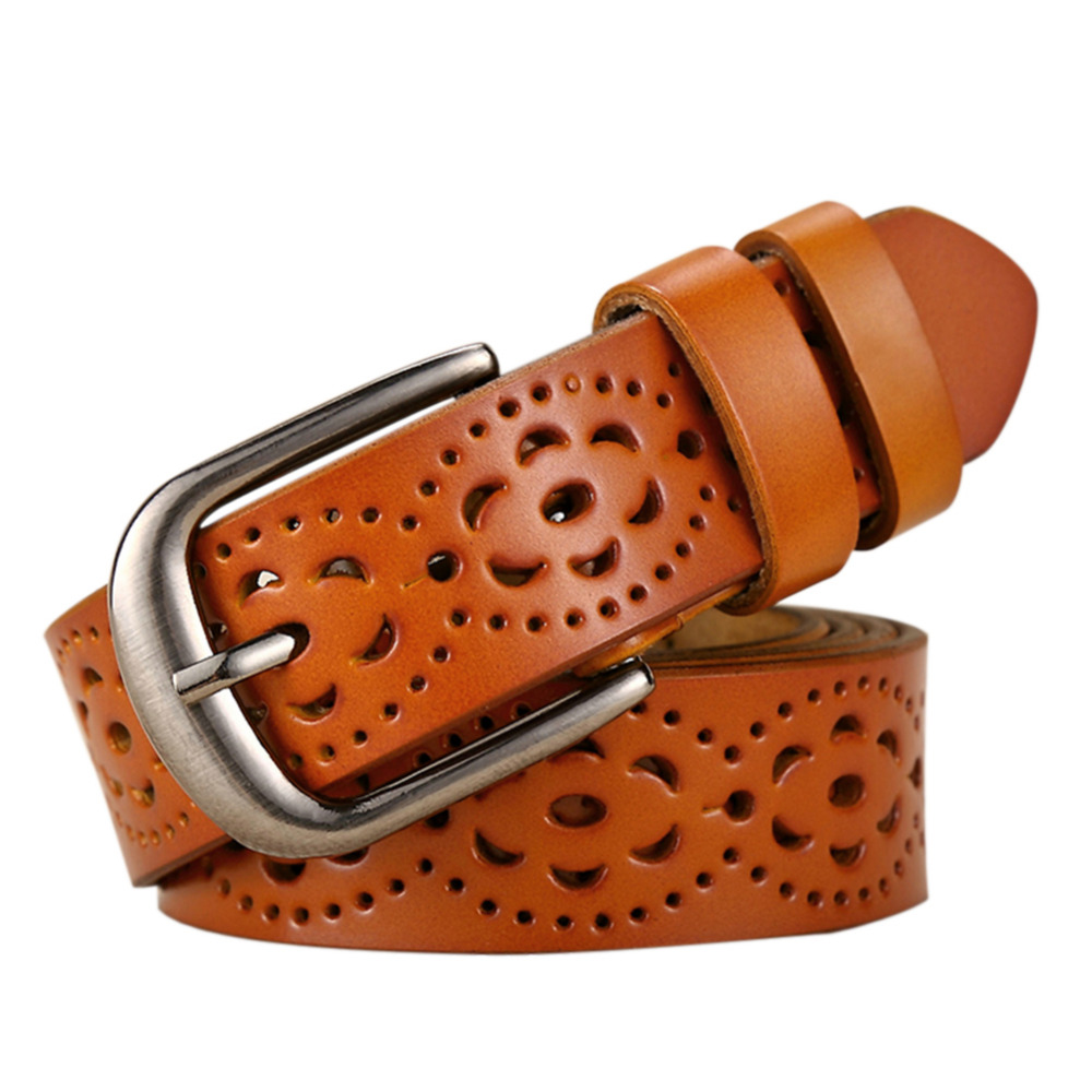 New Fashion Wide Genuine Leather Belt Women Without Drilling Luxury Jeans Belts Female Top Quality Straps