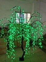 Светодиодный Willow Tree Light 1080 шт. лампы 2 м/6.6FT зеленый цвет непромокаемые праздник/сад/вечерние/свадебные декор Рождественская елка свет