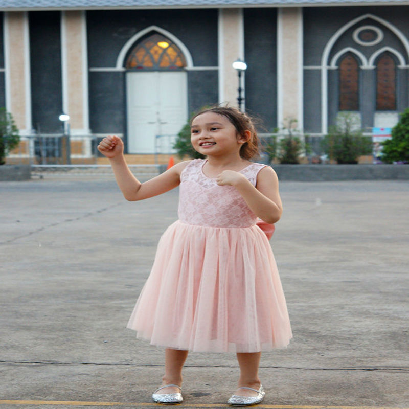 Sleeveless Flower Girl Dresses for Wedding A-Line Princess Dress Lace Mother Daughter Dresses for Girls Pageant Dress With Belt jewel neck sleeveless floral print a line belted dress