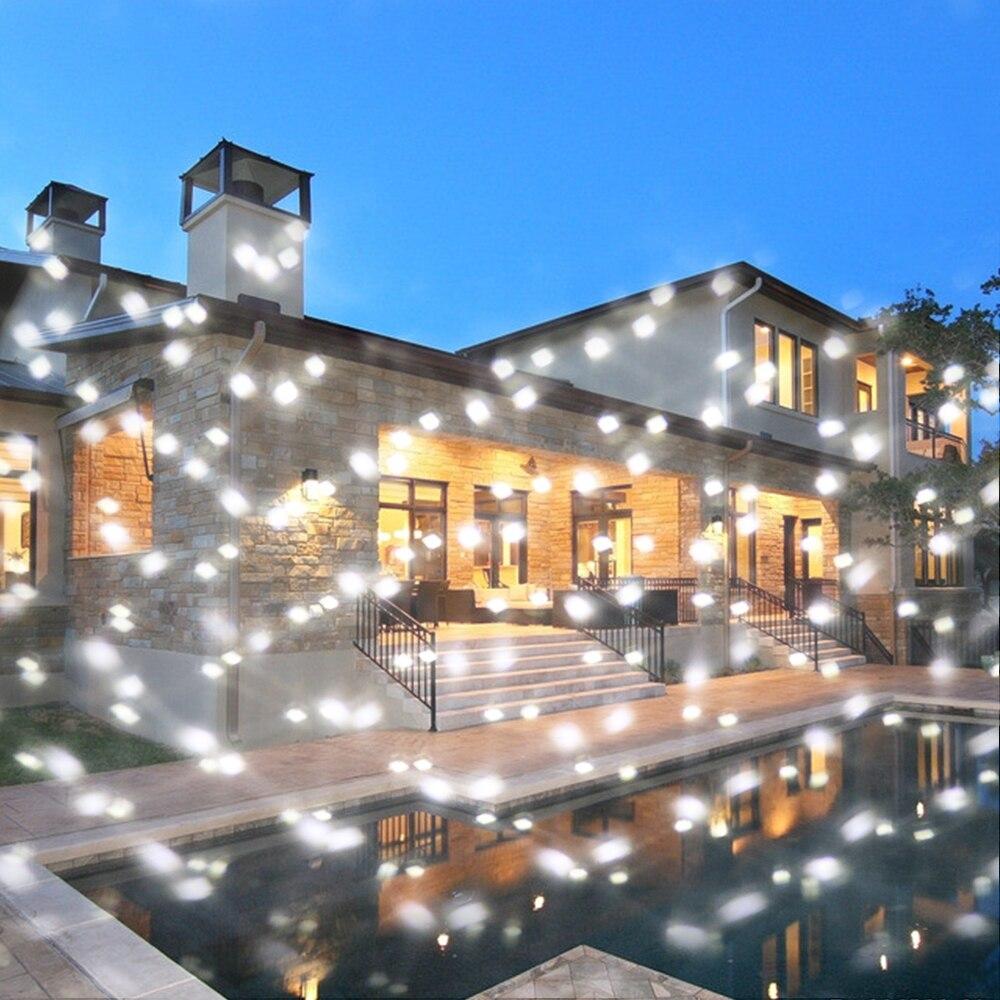 Projecteur de noël LED lumières décorations de neige en plein air intérieur décor de noël lumière rvb flocon de neige paillettes projecteur rotatif