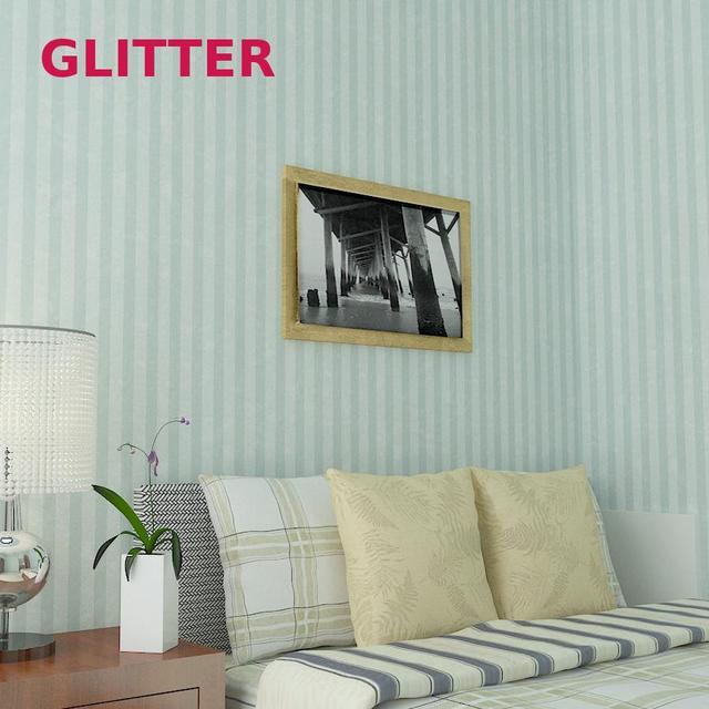 Mediterranen Stil Blau Gestreiften Wohnzimmer Tapete Rosa Mädchen ...