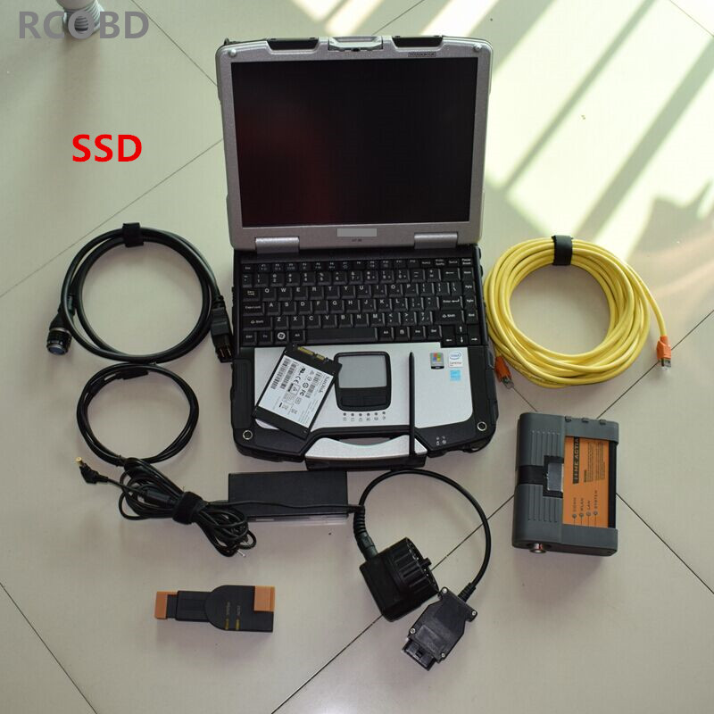 2018 FOR bmw diagnostic ICOM A2 WITH software ista expert mode ssd 480gb super with font