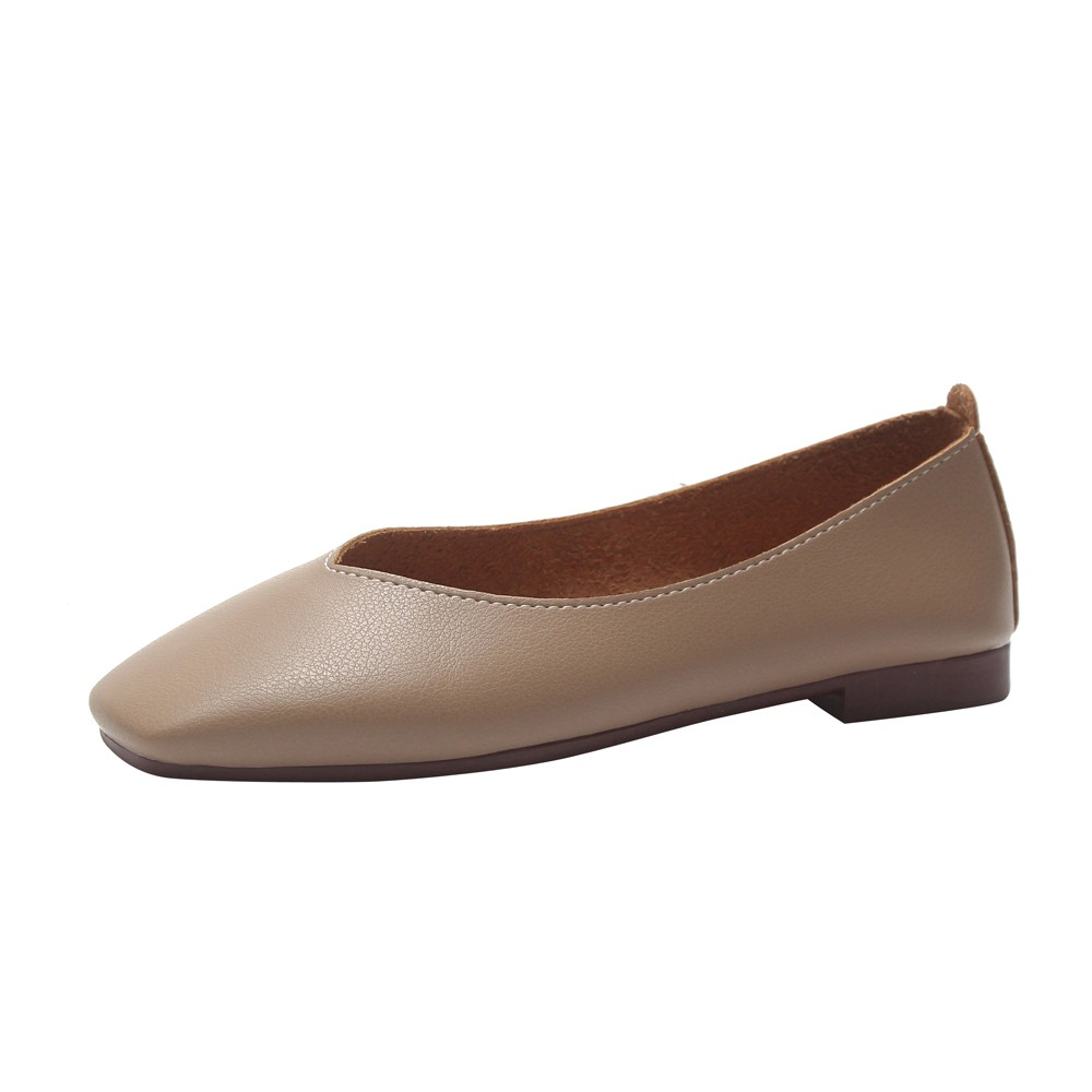 Women Flats Candy Color Woman Loafers Spring Autumn Flat Shoes Women Zapatos Mujer Skid-proof Square Toe Flat Shoes kuidfar women shoes woman flats genuine leather round toe slip on loafers ladies flat shoes skid proof spring autumn footwear