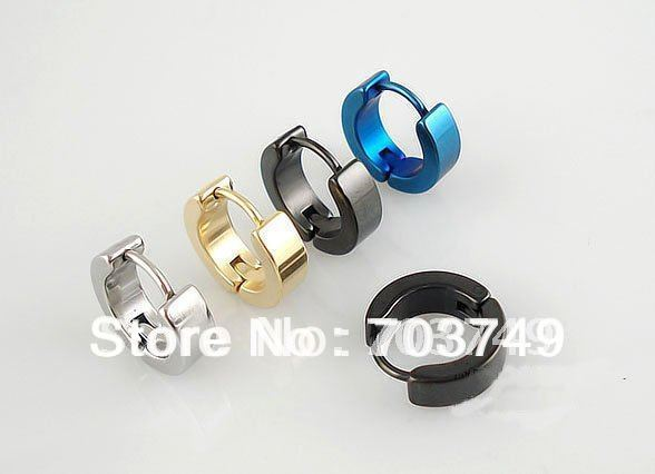 4mm 316L stainless steel body piercing jewelry Earring ring Ear button Earring rings 50pcs - 01011