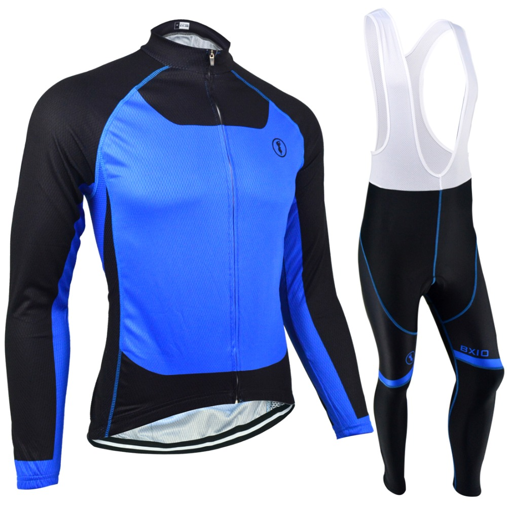 ФОТО BXIO Winter Thermal Fleece Bicycle Jersey Seamless Stitching Long Sleeves Bicycle Clothing 5D Gel Pad Short Maillot Ciclismo 131