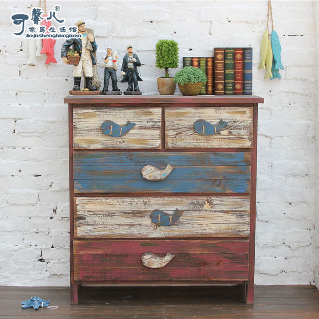 American Country To Do The Old Vintage Drawer Cabinet Storage
