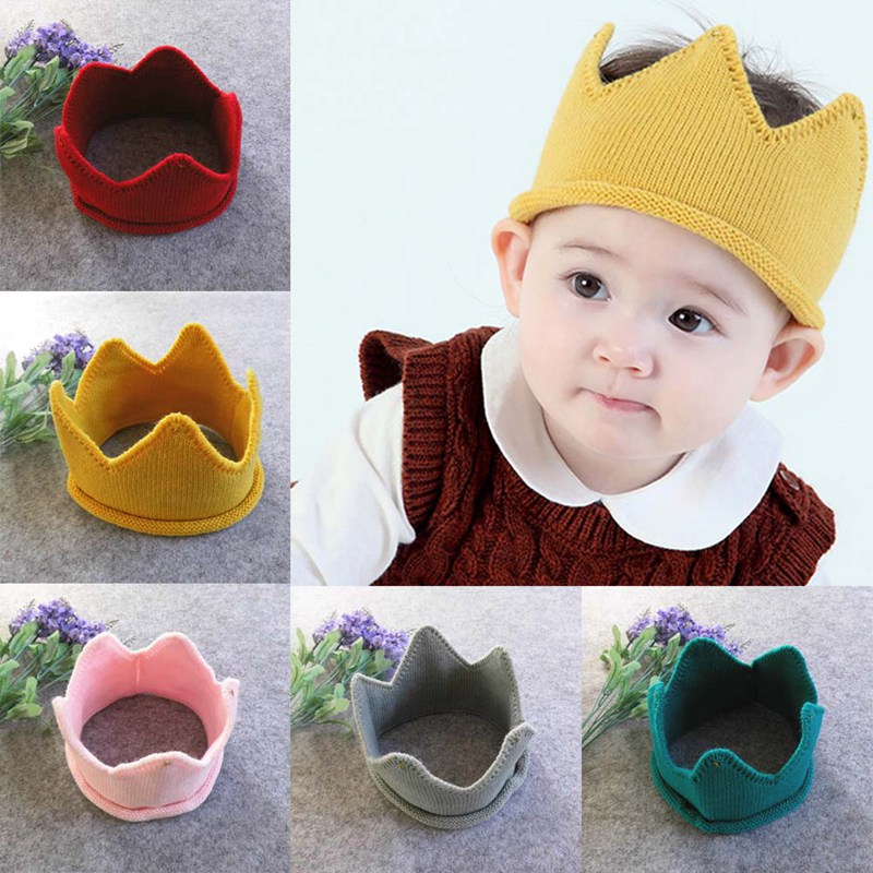 Systematic 2018 Fashion Colorful Baby Newborn Photo Props Kids Caps Baby Crown Knitted Headband Hat Photography Accessories Birthday Cap A Plastic Case Is Compartmentalized For Safe Storage Boy's Accessories