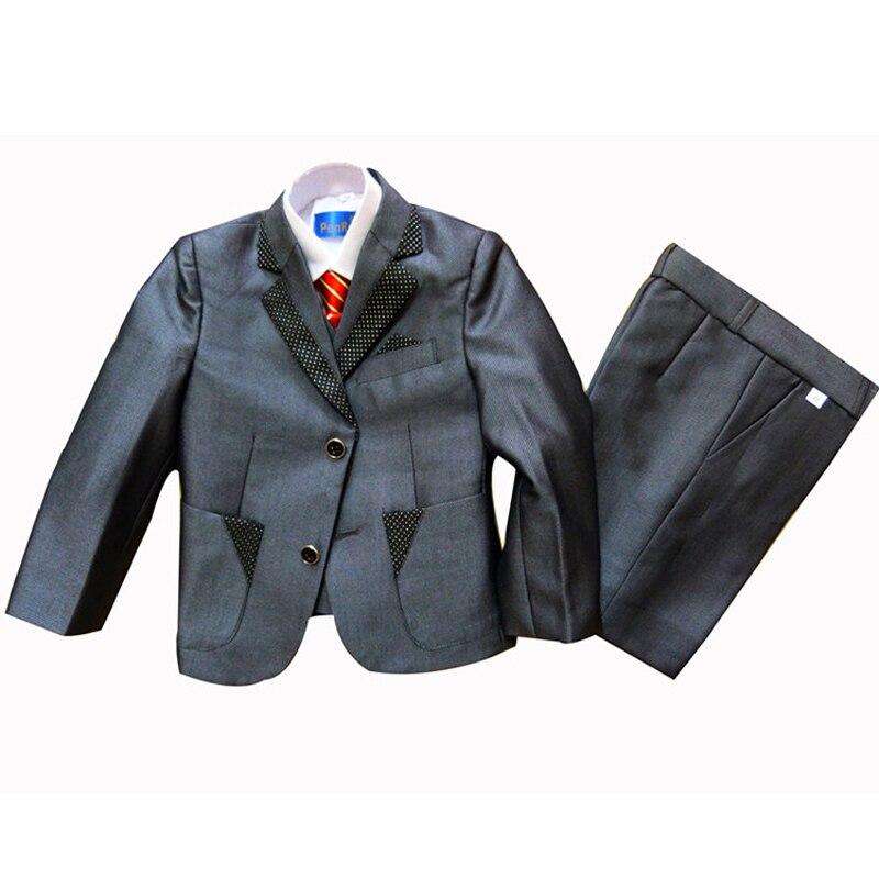 Boys blazers Weddings 3 piece Blazer suits Kids clothing set Baby Tuxedo suit Children Party dress 90-160cm - Super Costumes store