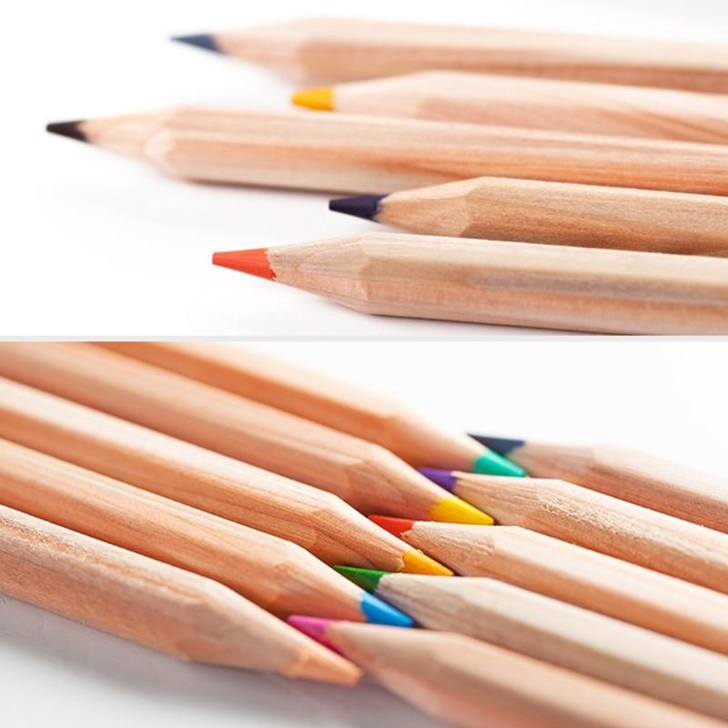 12 Colors Natural Wood Drawing Pencils Coloring Pens ...