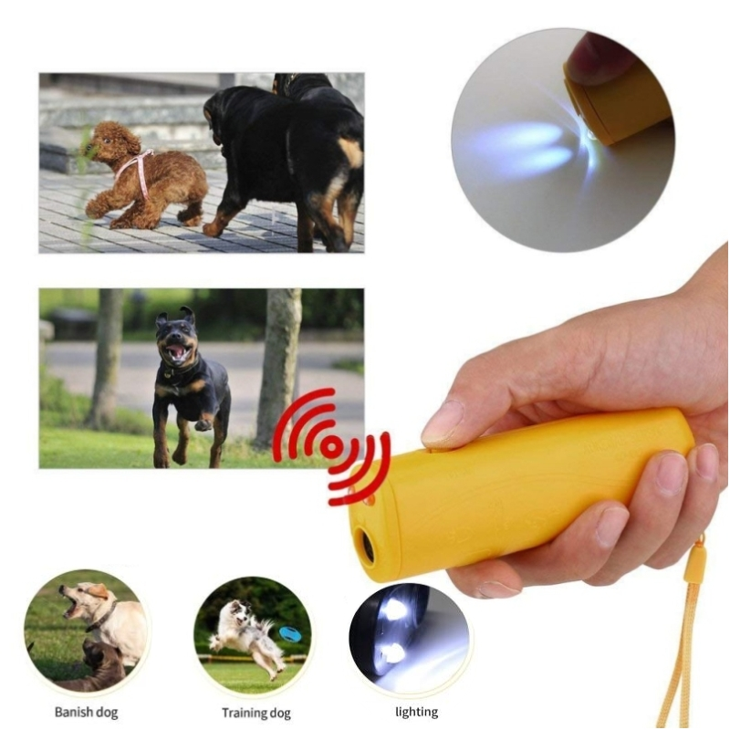 Strengthen Pet Dog Training equipment Ultrasound Repeller 3 in 1 Control Trainer Device Anti Barking Stop Bark Deterrents(China)