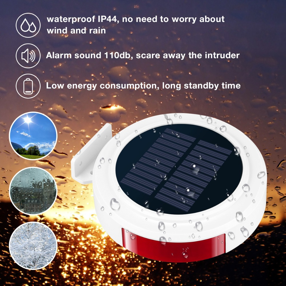 Image 3 - Smart Home Security Alarm System Wireless Solar Powered Anti Burglar Alarm SMS Remote Control PIR Sensor Door Window Sensor-in Alarm System Kits from Security & Protection