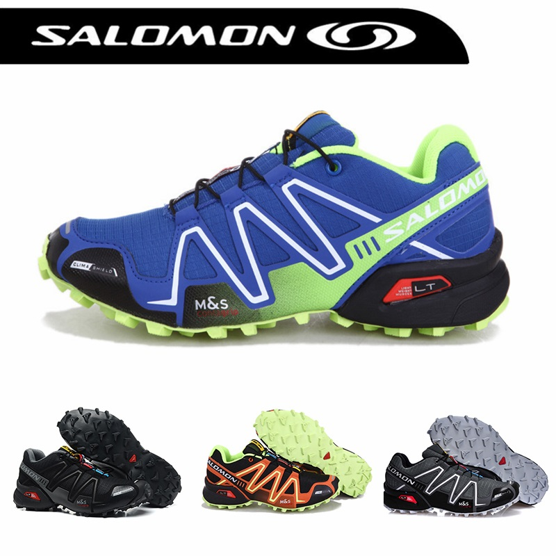 цены Salomon Speed Cross 3 CS Men's Outdoor climbing Sport Breathable Sneakers solomon Speedcross Male zapatillas Hombre Hiking shoes
