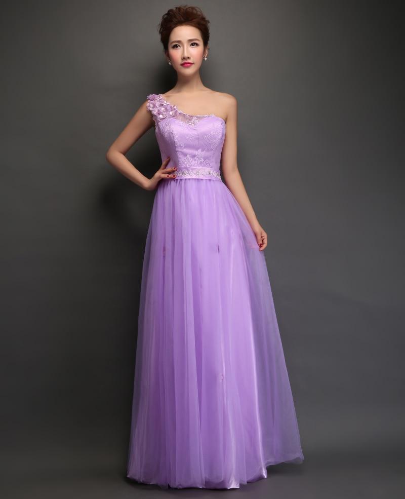 Lace A line Elegant Long Bridesmaid Dresses Wedding Party Gowns Half ...